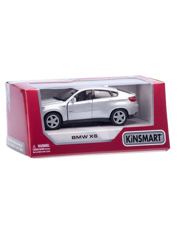 Металлическая машинка Kinsmart 1:38 «BMW X6» KT5336W инерционная в инд. коробке / Микс