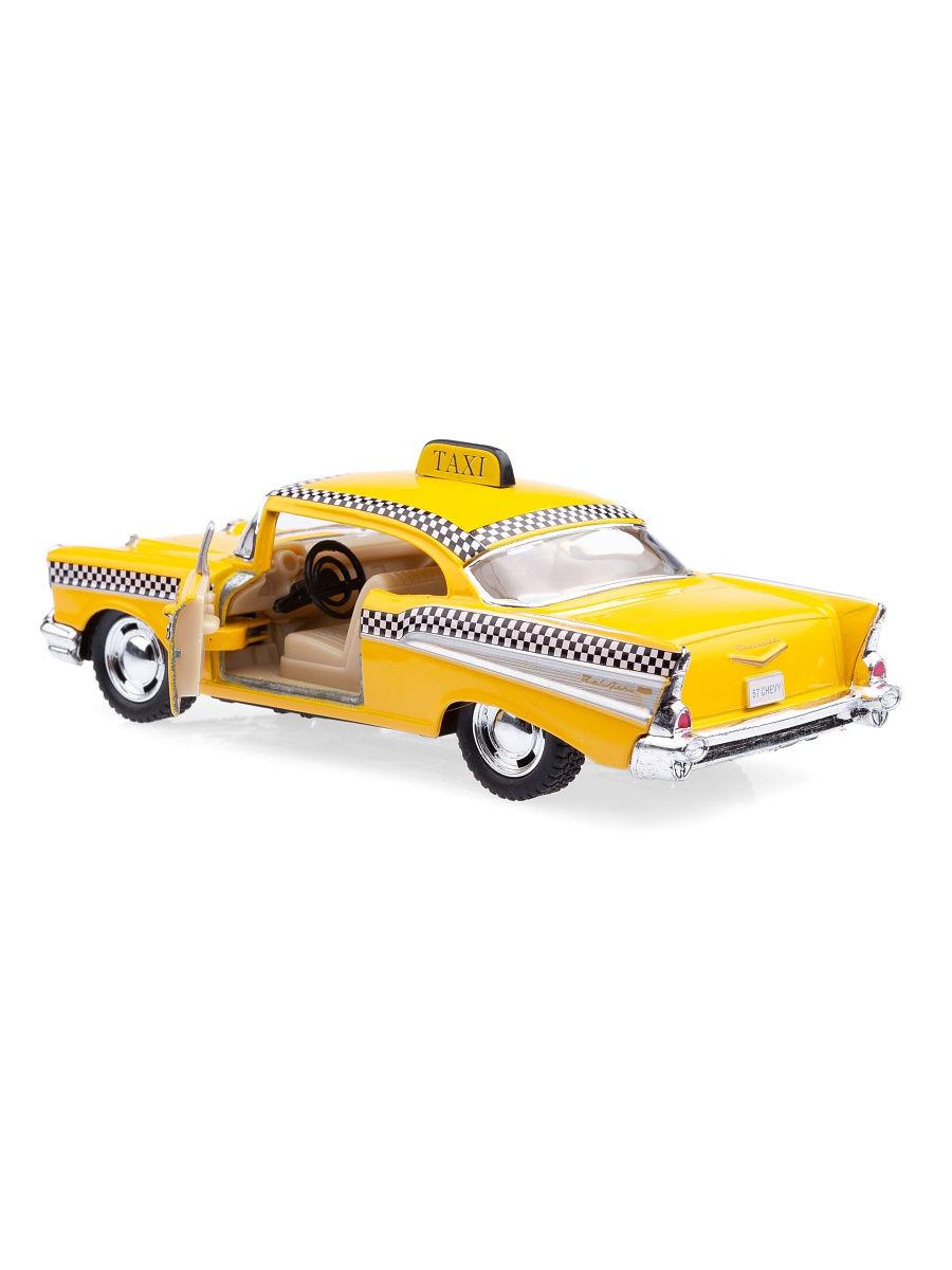 Металлическая машинка Kinsmart 1:40 «1957 Chevrolet Bel Air (Taxi)» KT5360D, инерционная