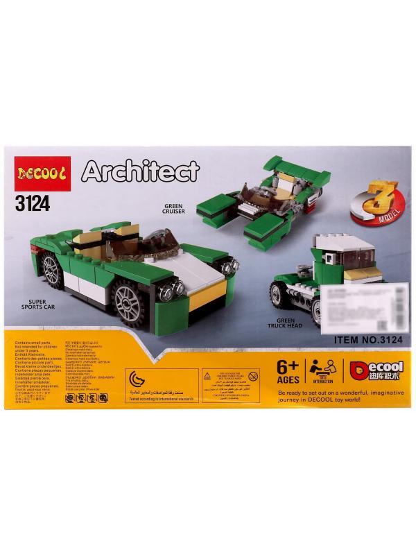 Конструктор Decool «Зелёный кабриолет» 3124 (Creator 31056) / 122 детали