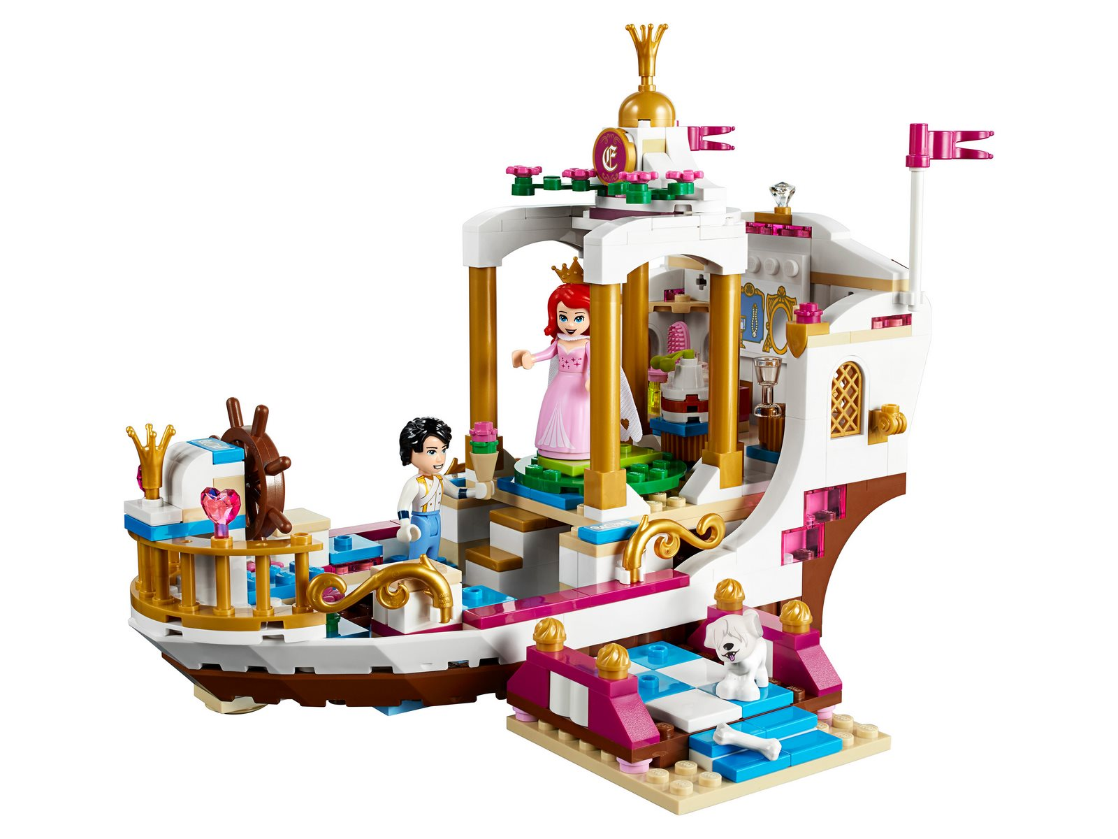 Конструктор DECOOL «Королевский корабль Ариэль» 70223 (Disney Princess 41153) 395 деталей