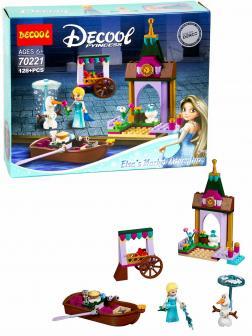 Конструктор Decool «Приключения Эльзы на рынке» 70221 (Disney Princess 41155) 128 деталей