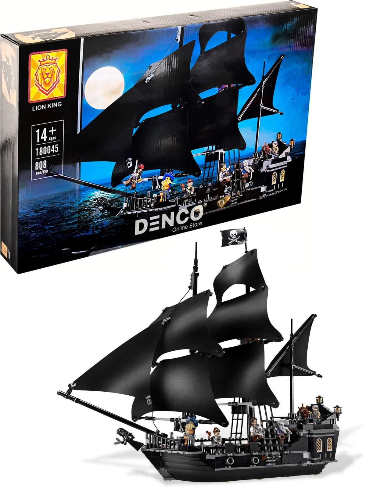 Конструктор Lion King «Чёрная жемчужина» 180045 (Pirates of the Caribaean 4184) / 808 деталей