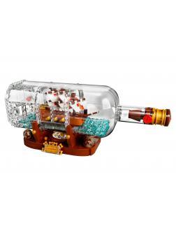 Конструктор KING «Корабль в бутылке» 83029 (Ideas 21313) 1078 деталей