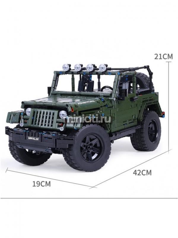 Конструктор Mould King «Jeep Wrangler Rubicon RC» 13124 / 2096 деталей
