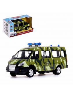 Инерционная машинка Play Smart 1:29 «ГАЗ-27057 Военный автобус» 19 см. 9689-A, Микроавтобус