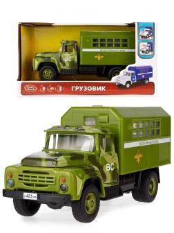 Грузовик инерционный Play Smart 1:34 «ЗИЛ-130 Фургон Вооруженные сила» 9710-С 21 см. Автопарк, свет и звук