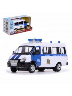 Инерционная машинка Play Smart 1:29 «ГАЗель-27057 Автобус Дежурной части Полиции» 9689-B