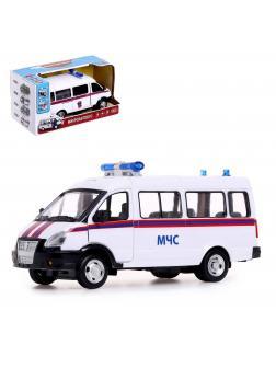Инерционная машинка Play Smart 1:29 «ГАЗ-27057 Автобус МЧС» 19 см. 9689-D, Микроавтобус