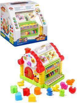 Развивающая игрушка Play Smart «Теремок с ручкой» 9196 Расти Малыш, свет, звук, счеты, пианино, сортер