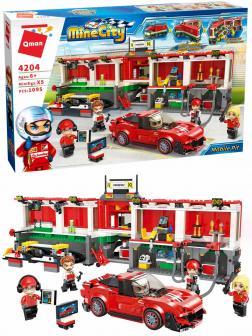Конструктор Qman «Мобильный Пит-Стоп» 4204 Mine City: Racing Car Series / 1095 деталей