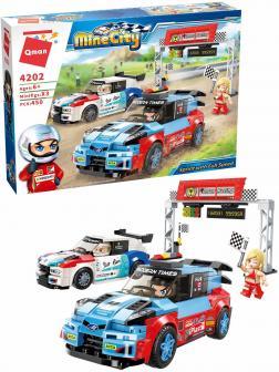 Конструктор Qman «Гонки на полной скорости» 4202 Mine City: Racing Car Series / 450 деталей