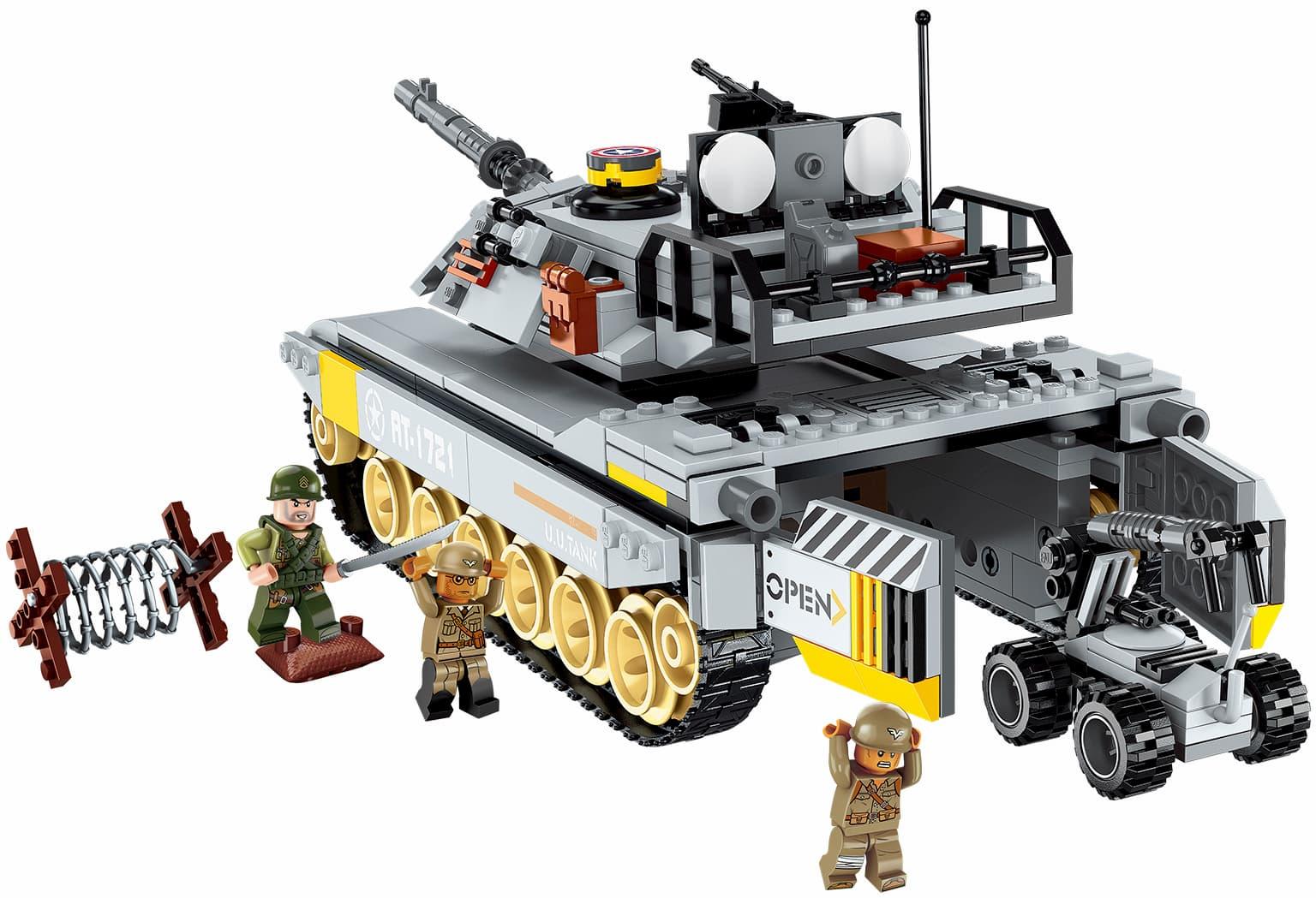 Конструктор Qman «Боевой танк-амфибия Повелитель» 1721 Combat Zones Fire / 482 детали