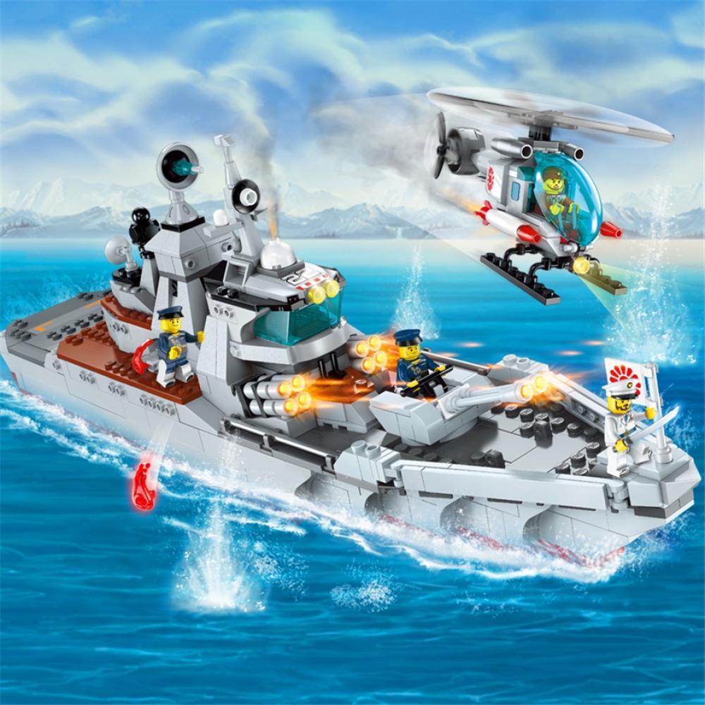 Конструктор Qman «Эсминец: Вперед, Разрушитель!» 1722 Combat Zones / 539 деталей