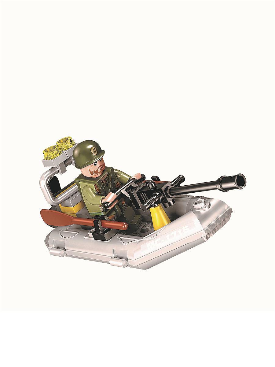 Конструктор Qman «Битва на мелководье» 1716 Combat Zones Fire, 3 минифигуры / 92 детали