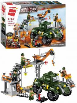 Конструктор Qman «Оружейный завод» 1712 Combat Zones Fire / 396 деталей