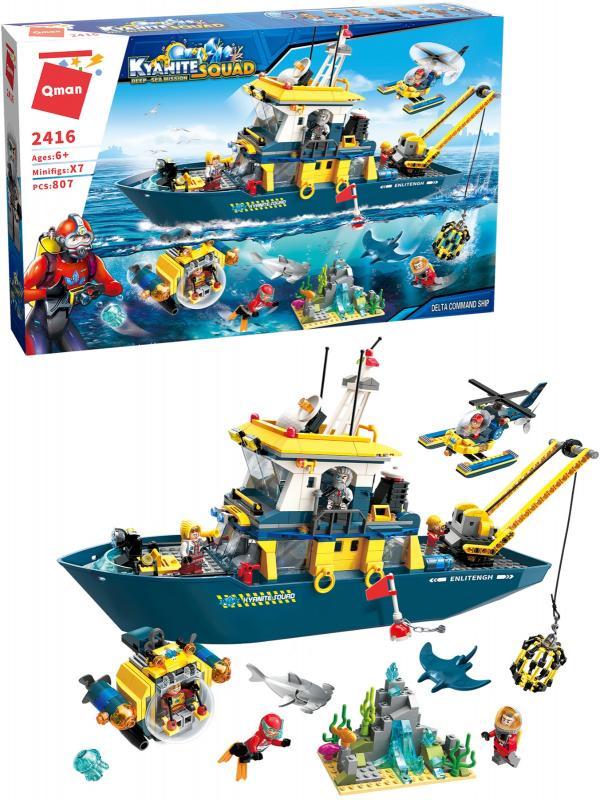 Конструктор Qman «Командный корабль Дельта» 2416 Kyanite Squad: Deep-Sea Mission / 807 деталей