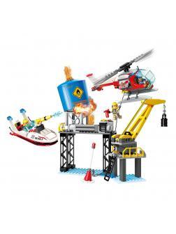 Конструктор BRICK «Пожарные службы: Помощь нефтяной станции» 2806 / 321 деталь