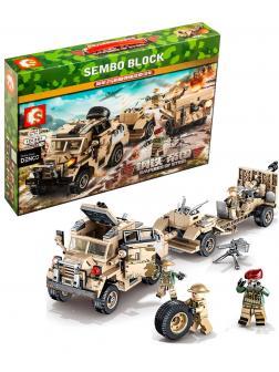 Конструктор Sembo Block «Артиллерийский тягач и 25-фунтовая пушка-гаубица» 101361 Empires of Steel / 464 детали