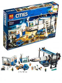 Конструктор Lari «Площадка для сборки и транспорт для перевозки ракеты» 11388 (City 60229) / 1097 деталей