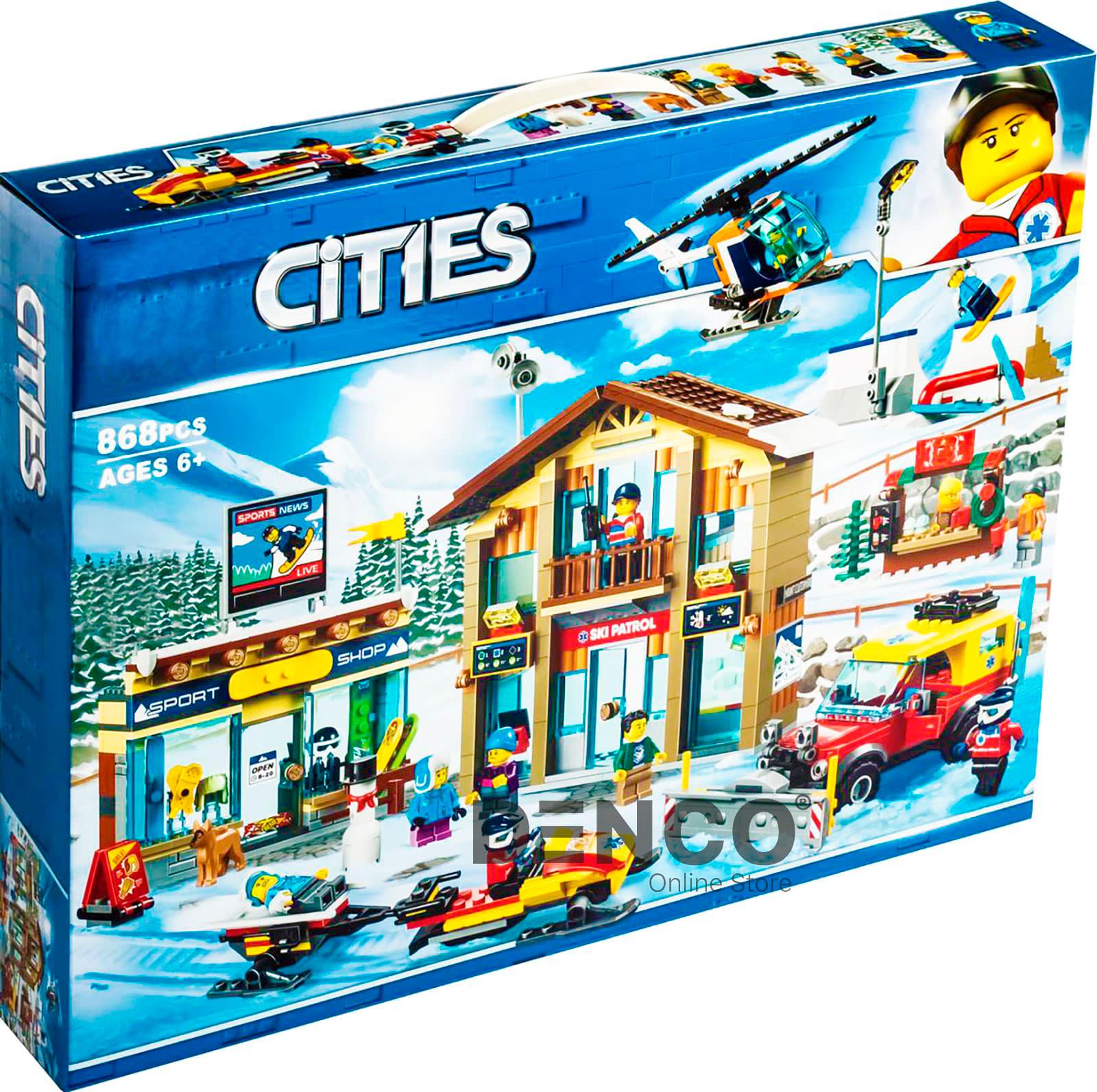 Конструктор Lari «Горнолыжный курорт» 11451 (City 60203) / 868 деталей