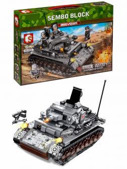 Конструктор Sembo Block «Немецкий танк IV» 101322 / 596 деталей