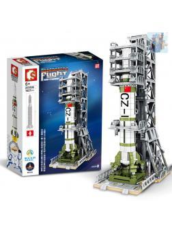Конструктор Sembo Block «Запуск спутника Dongfanghong» 203306 / 1627 деталей