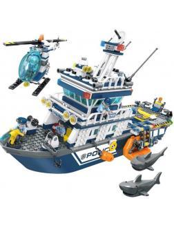 Конструктор Sembo Block «Полицейский корабль» SD9796 / 869 деталей