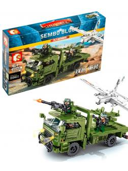 Конструктор Sembo Block «Транспортно-пусковая установка с БПЛА» 105621 Iron Blood Heavy Equipment / 442 детали