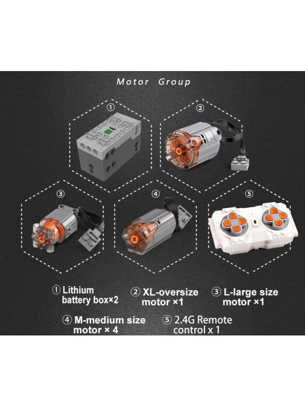Конструктор Mould King «Экскаватор Link-Belt 250 x3 RC APP» 13112 на радиоуправлении / 1830 деталей
