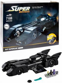 Конструктор JiSi Bricks «1989 Batmobile» 7188 (DC Batman 76139) / 3472 детали