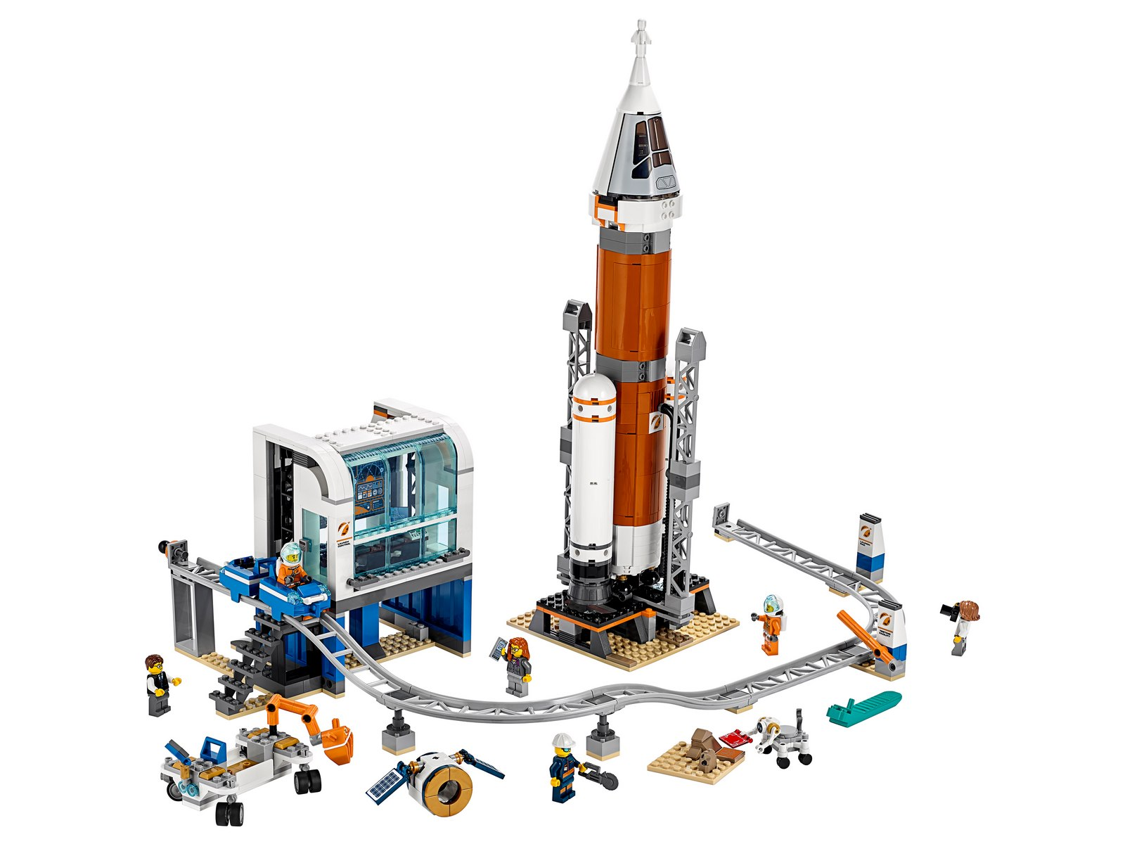 Конструктор Lari «Ракета для запуска в далекий космос и пульт управления запуском» 11387 (City 60228) / 873 детали