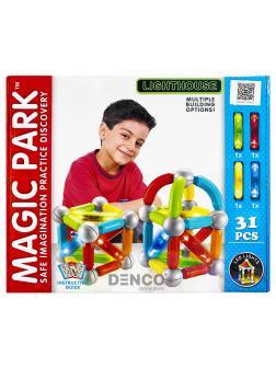 Магнитный конструктор «Magic Park» QF8610E, светящийся / 31 деталь