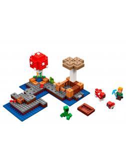 Конструктор Decool «Грибной остров» 824 (Minecraft 21129) / 252 детали