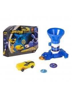 Бластер для дисков синий и машинка 1 уровня Дикие Скричеры игровой набор (Screechers Wild)