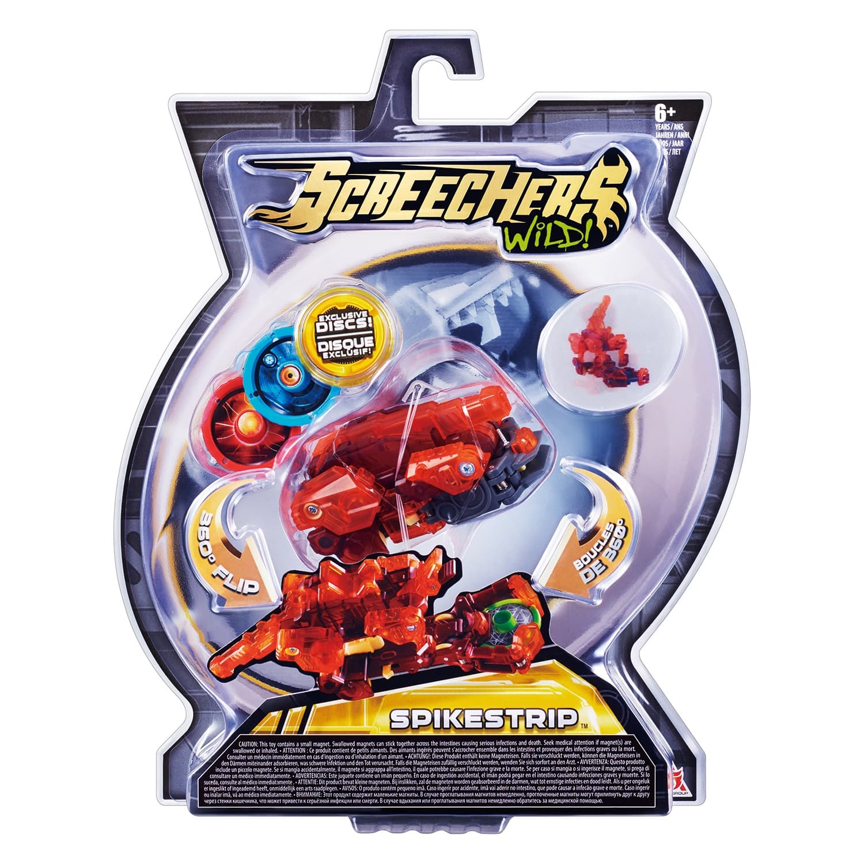 Машинка-трансформер «Спайкстрип» Дикие Скричеры 2 уровень (Screechers Wild)