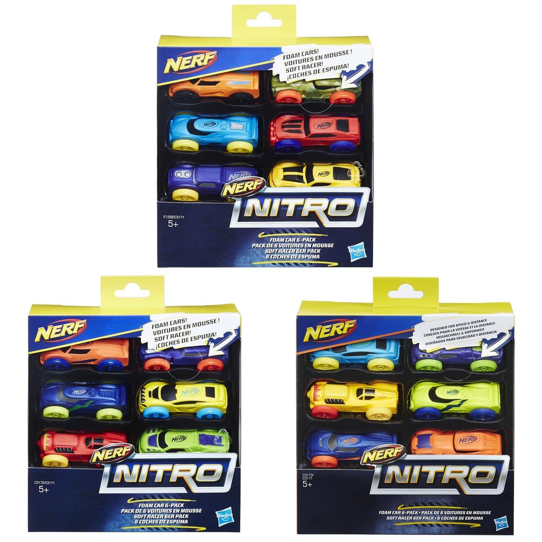 Машинки НЕРФ Нитро 6 шт. за 1 шт. (Nerf Nitro set of 6 cars) C3171EU4 Hasbro