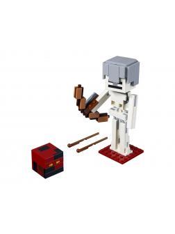 Конструктор Ll «Скелет с кубом магмы» 33253-2 (Minecraft 21150) / 156 деталей