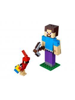 Конструктор Ll «Фигурка Стив с попугаем» 33253-3 (Minecraft 21148) / 156 деталей