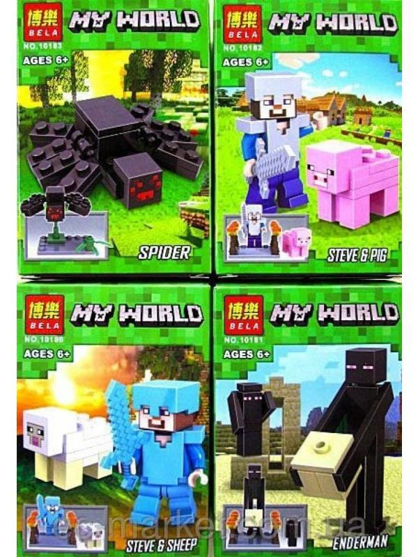 Конструктор Bl Майнкрафт 10180-83 (Minecraft) 4 шт.