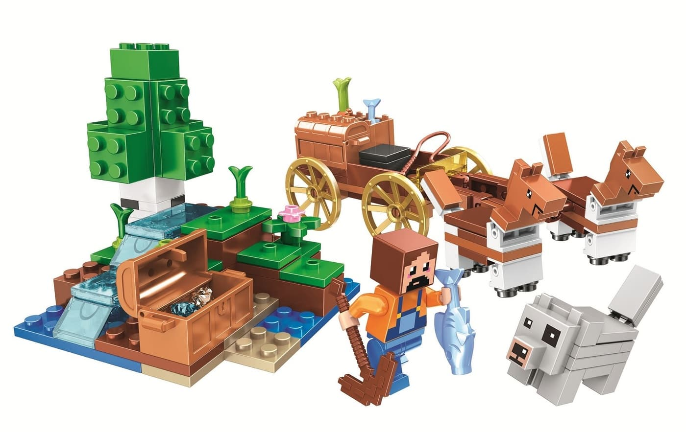 Конструктор Lari «Оазис в пустыне» 11130 Minecraft / 162 детали