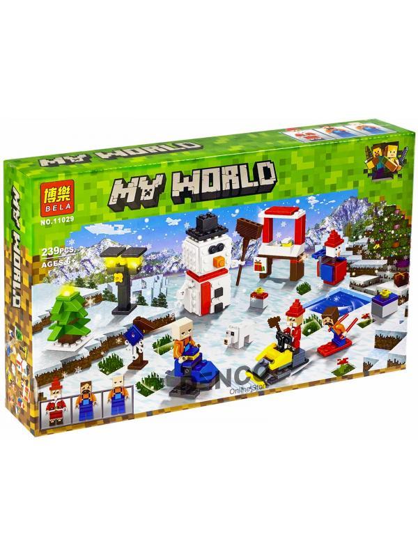 Конструктор Bl «Новый год: Зимние игры» 11029 (Minecraft) 239 деталей