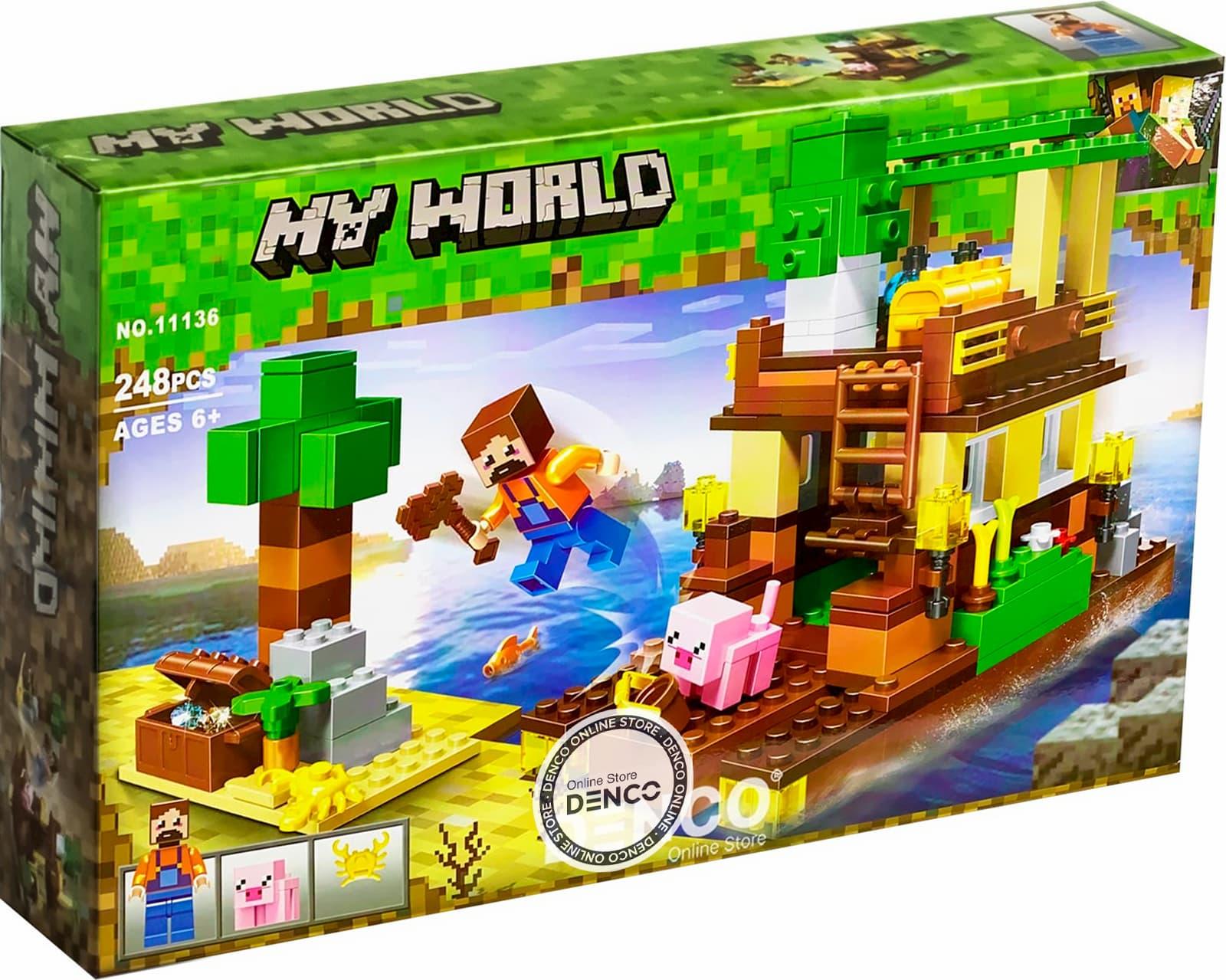 Конструктор «Остров сокровищ» 11136 (Minecraft) / 248 деталей
