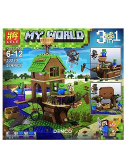 Конструктор Ll Minecraft «В поисках сокровищ» 33220 (Совместимый с ЛЕГО), 279 деталей