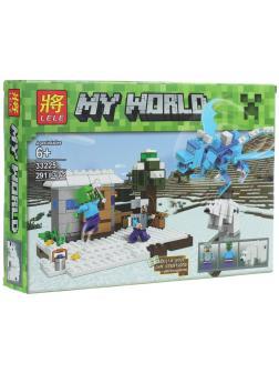 Конструктор Ll Minecraft «Северный Голубой дракон» 33225 / 291 деталь