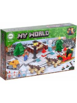 Конструктор Bl «Новый год: Прогулка на оленях» 11027 Minecraft / 375 деталей