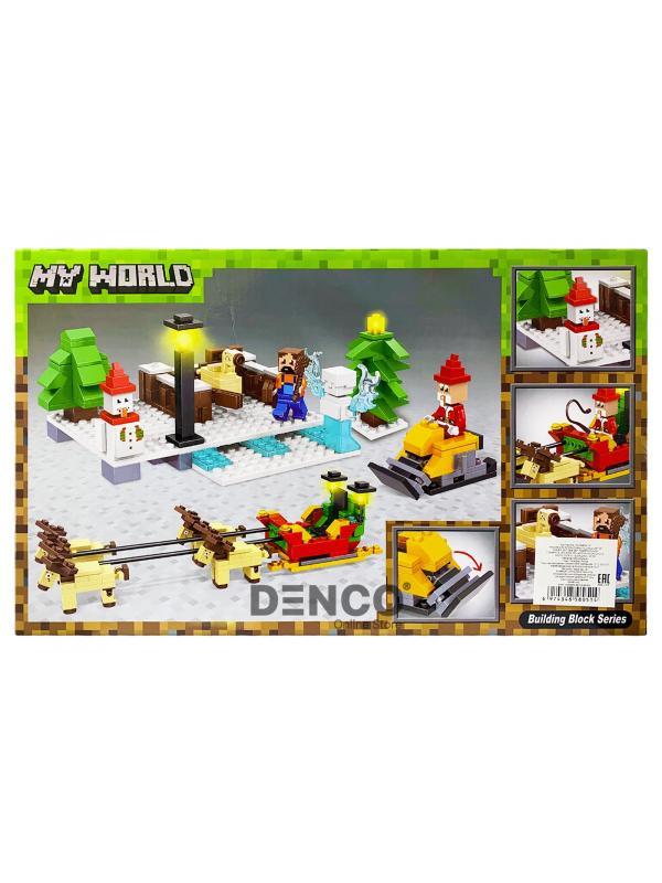 Конструктор Bl «Новый год: Прогулка на оленях» 11027 (Minecraft), 375 деталей