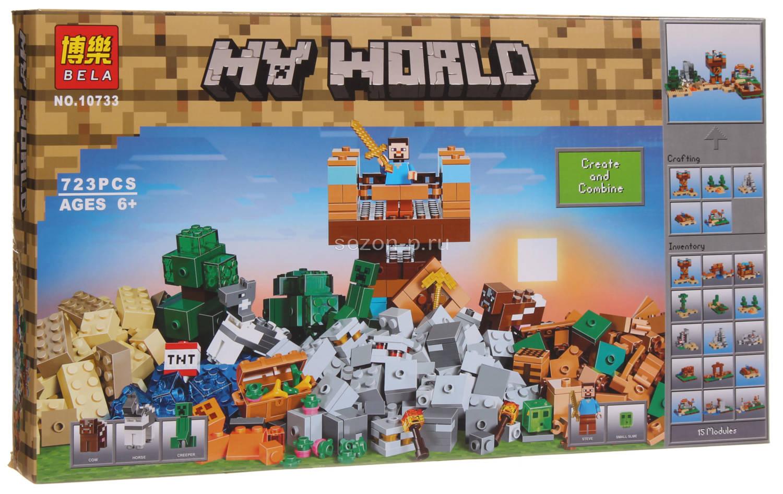 Конструктор Bl 5 в 1 «Набор для творчества Храм Джунглей» 10733 (Minecraft 21135) / 723 деталей