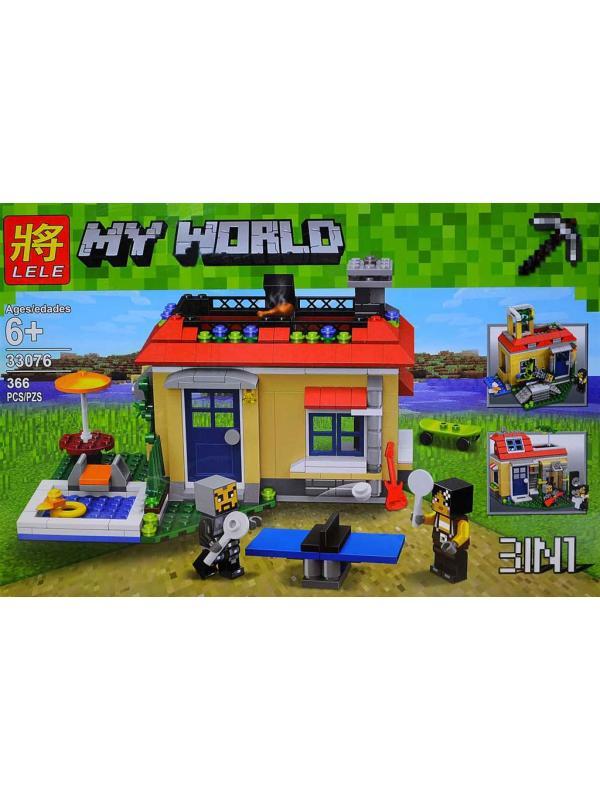 Конструктор Minecraft «Вечеринка у бассейна» 33076 (31067), 366 деталей