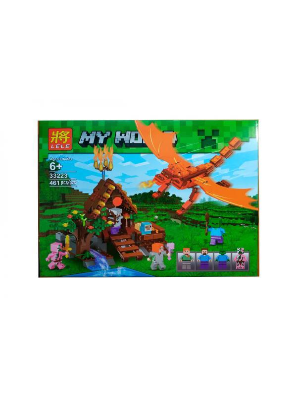 Конструктор Minecraft «Нападение Огненного дракона» 33223 (Совместимый с ЛЕГО), 461 деталь
