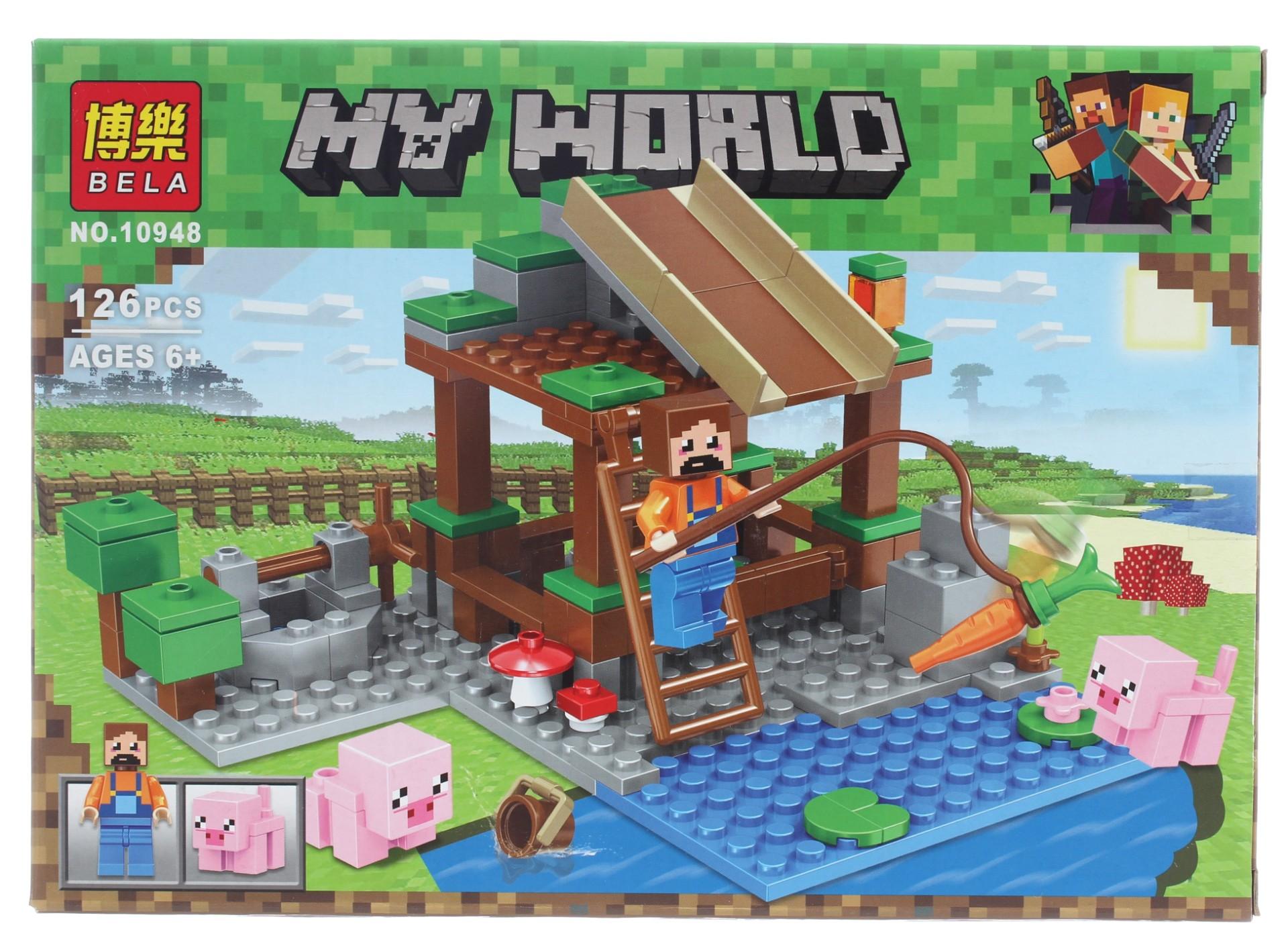 Конструктор Bl «Жизнь на деревенской ферме» 10948-10953 (Minecraft), 736 деталей